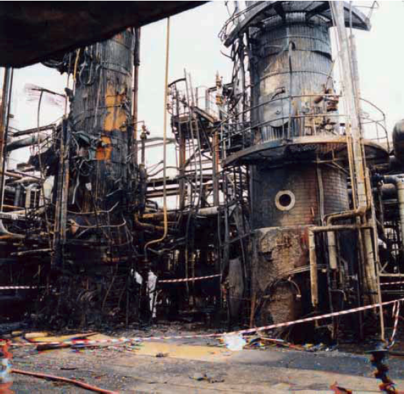 FCCU fire damage