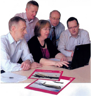 Martin Anderson (right) in the HSE Nimrod working group