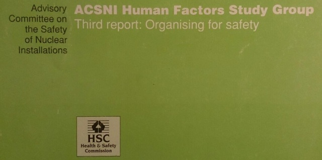 Organising for Safety - Human Factors
