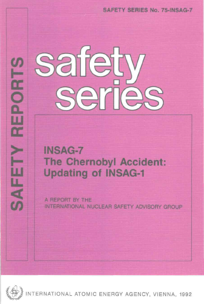INSAG-7 - Chernobyl - human error - safety culture